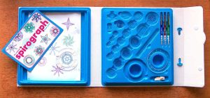 Spirograph Deluxe Set carrying case with working surface
