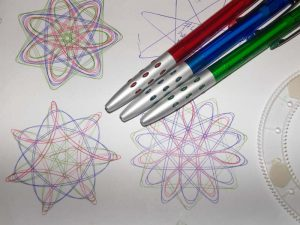 Spirograph designs with pens