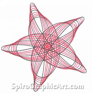 Star design made with Ring 150/105 and Wheel 63.