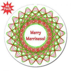 Spirograph Christmas sticker